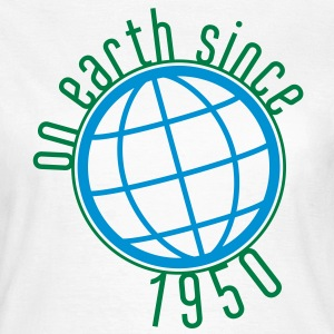 Birthday Design - (thin) on earth since 1950 (uk) T-Shirts - Women's T-Shirt