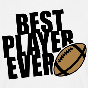 BEST FOOTBALL / RUGBY PLAYER EVER 2C T-Shirt BW - Männer T-Shirt