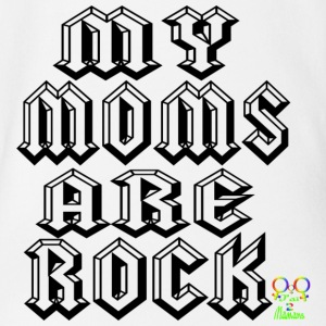 my moms are rock Tee shirts Bébés - Body bébé bio manches courtes