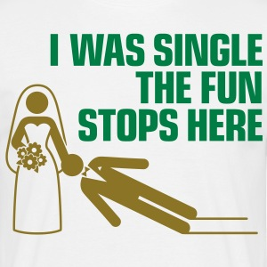 I Was Single 1 (2c)++ T-shirts - Mannen T-shirt
