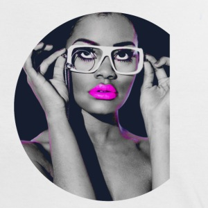 Beauty Popart with Glasses T-Shirts - Frauen Kontrast-T-Shirt