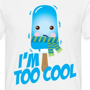 Funny and cute vintage too cool freezing ice cream for cold winter and hot summer t-shirts T-Shirts - Men's T-Shirt