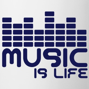 Music is life with equaliser  Bottles & Mugs - Mug
