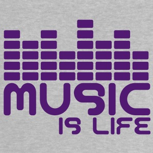 Music is life with equaliser  Babyskjorter - Baby-T-skjorte