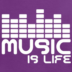 Music is life with equaliser  T-Shirts - Frauen Kontrast-T-Shirt