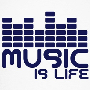 Music is life with equaliser  Tee shirts manches longues - T-shirt baseball manches longues Homme