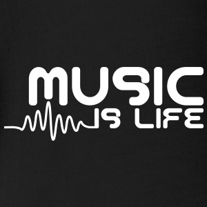Music is life with pulse Camisetas Bebés - Body orgánico de maga corta para bebé