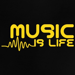 Music is life with pulse Camisetas Bebés - Camiseta bebé