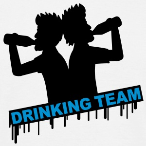 cool_drinking_team T-shirts - Herre-T-shirt