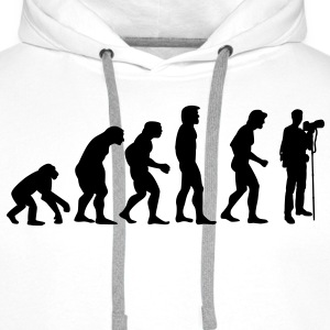 photographer evolution Sweaters - Mannen Premium hoodie