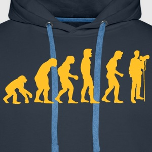 photographer evolution Hoodies & Sweatshirts - Men's Premium Hoodie