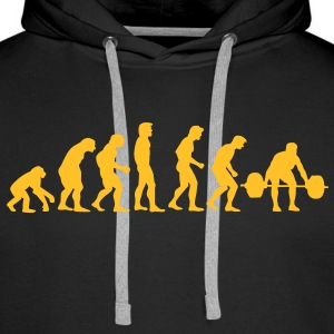 athletics evolution Sweaters - Mannen Premium hoodie