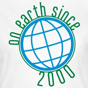 Birthday Design - (thin) on earth since 2000 (es) Camisetas - Camiseta mujer