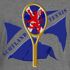 Scotland flag tennis racket Hoodies & Sweatshirts
