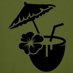 Coconut milk cocktail with hibiscus flower T-Shirts - Men's Organic T-shirt