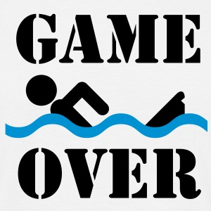 Game over | Schwimmer | Swimmer T-Shirts - Herre-T-shirt