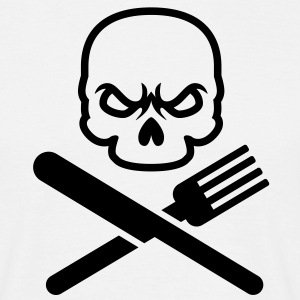 Dinner Skull | Grill Totenkopf T-Shirts - T-skjorte for menn