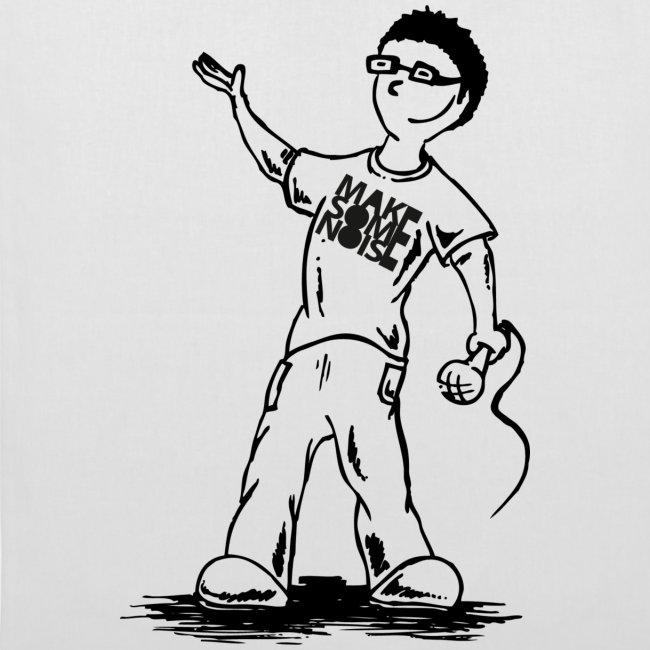 """Comic""-Stofftasche"
