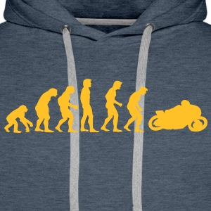 motorcycle evolution Sweaters - Mannen Premium hoodie