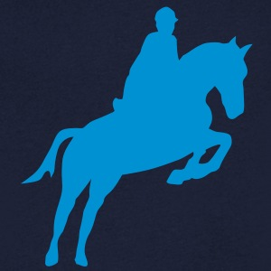 equitation cavalier12 obstacle cheval sa Tee shirts - T-shirt Homme col V