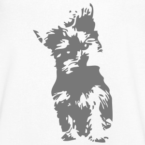 yorkshire terrier chien dog2 Tee shirts - T-shirt Homme col V