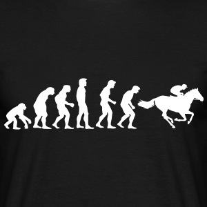 pferderennen02_evolution T-Shirts - Men's T-Shirt