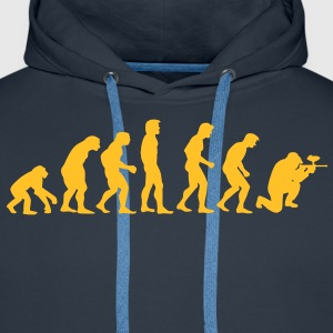 paintball_evolution Sweat-shirts - Sweat-shirt à capuche Premium pour hommes