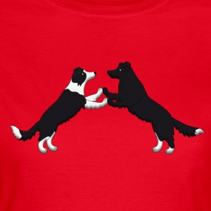 dog dancing pixel Border Collies T-Shirts - Women's T-Shirt
