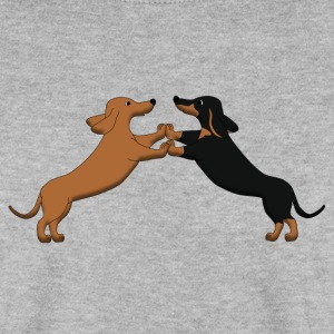 dog dancing teckel pixel Sweaters - Mannen sweater