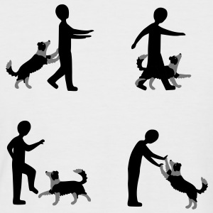 Vier Bilder Dog Dancing mit Border Collie T-Shirts - Männer Baseball-T-Shirt