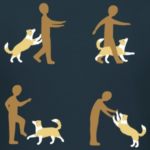 Vier Bilder Dog Dancing mit Border Collie T-Shirts - Frauen T-Shirt
