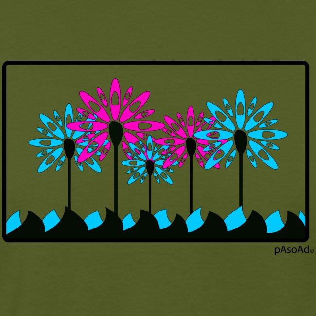 T-shirt kayak fleur pagaie 2 Homme