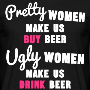 Pretty Women vs Ugly Women Tee shirts - T-shirt Homme
