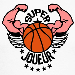 super basket joueur bras muscle balle3 Tee shirts manches longues - T-shirt baseball manches longues Homme