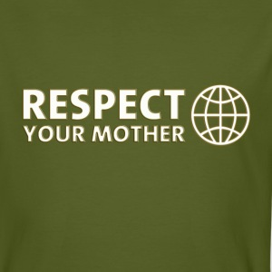 RESPECT YOUR MOTHER! digital, weiss T-Shirts - Men's Organic T-shirt