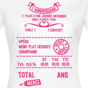 age mettre addition note resto restaur f Tee shirts - T-shirt Femme