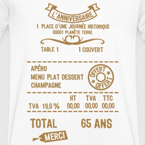 65 ans addition note resto restaur fact Tee shirts - T-shirt Homme col V