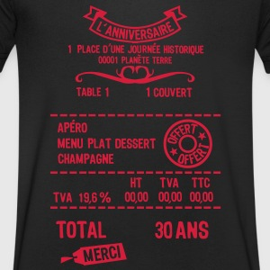 30 ans addition note resto restaur fact Tee shirts - T-shirt Homme col V