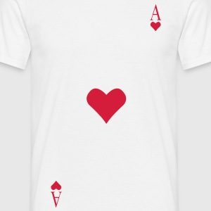 Ace of Hearts on your chest - Men's T-Shirt