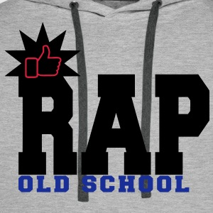 rap old school Sweat-shirts - Sweat-shirt à capuche Premium pour hommes