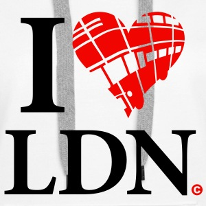 i_love_lnd_2c_bus Hoodies & Sweatshirts - Women's Premium Hoodie