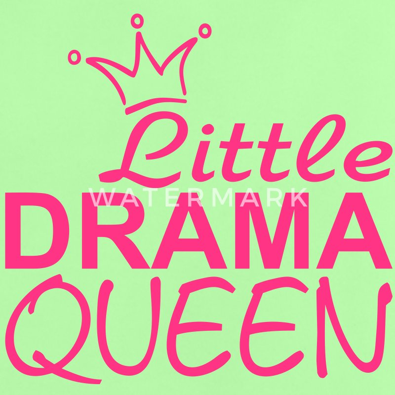 LITTLE DRAMA QUEEN met Kroon - Baby T-shirt