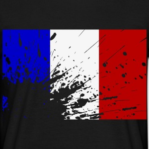 French flag splatter - Men's T-Shirt