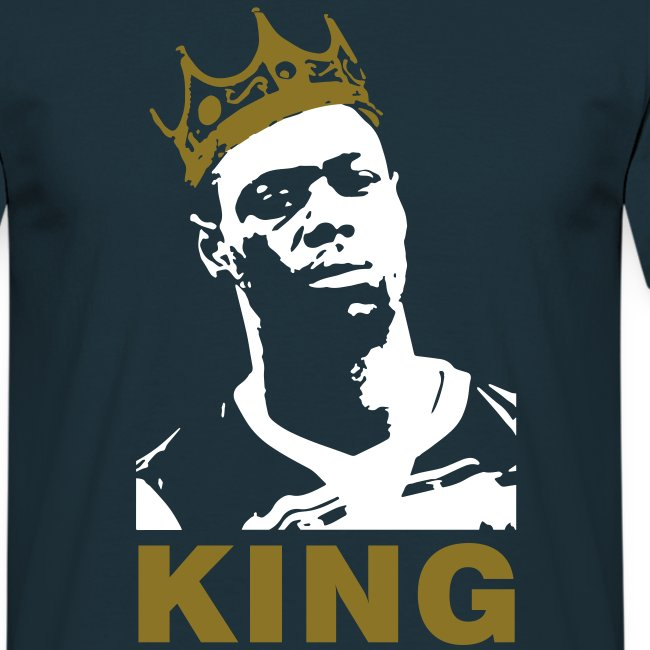 God Save the King - Navy/White/Gold T-Shirt