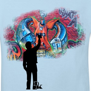 Hellblau graffiti is art Kinder T-Shirts - Kinder Bio-T-Shirt