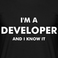 Diseño ~ I'm a developer and I know it - chico manga corta