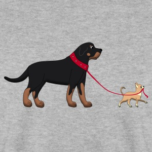 Rottweiler & Chihuahua 2 Sweat-shirts - Sweat-shirt Homme