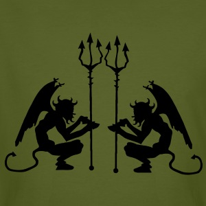 Devil with Pitchfork Tee shirts - T-shirt bio Homme