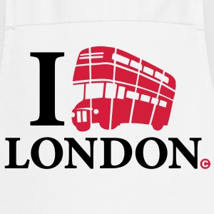 i_love_london-bus_2c  Aprons - Cooking Apron