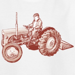Traktor_rot Kinder T-Shirts - Teenager T-Shirt